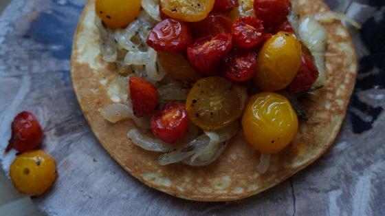 tomato pancake