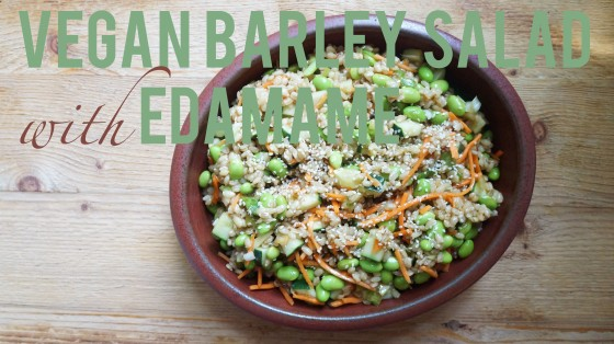 vegan barley salad with edamame // kitchenblend
