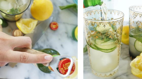 lemon lime cucumber coolers // kitchenblend