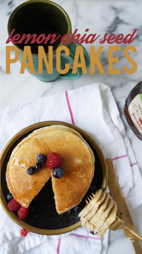 lemon chia seed pancakes // kitchenblend