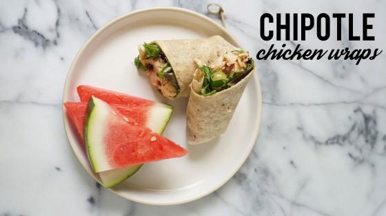 chipotle chicken wraps // kitchenblend
