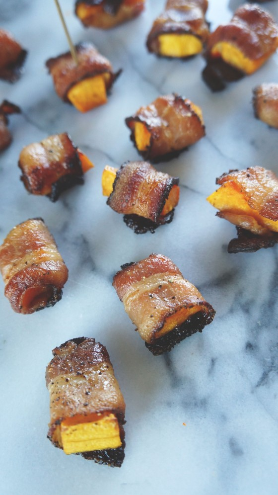 butternut squash pepper bacon bites // kitchenblend
