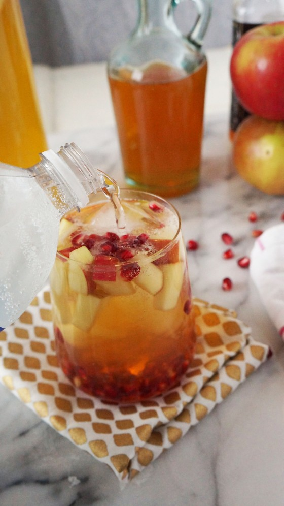 whiskey pomegranate apple cider sangria // kitchenblend